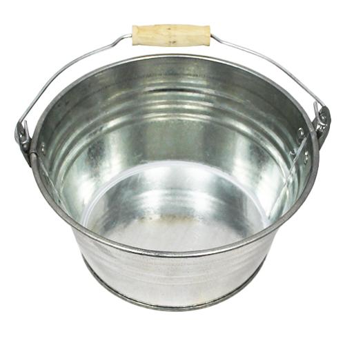 Wiaderko cynkowe - doniczka - 20x11 cm - srebrna