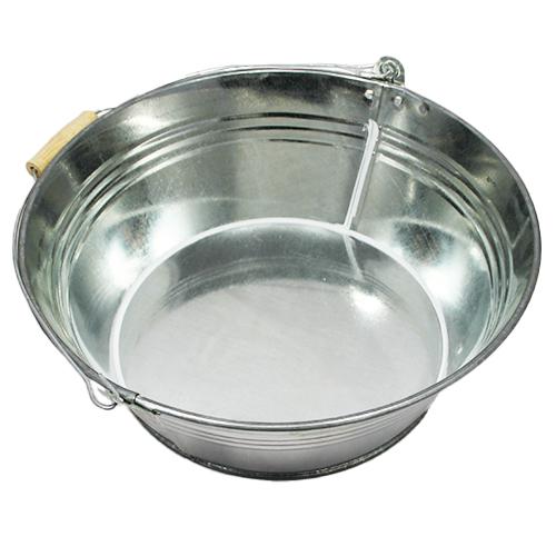 Wiaderko cynkowe - doniczka - 36x15 cm - srebrna