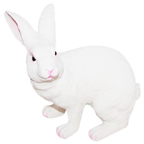Figurka królik biały duży realistyczny