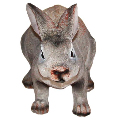 Figurka królik szary duży realistyczny
