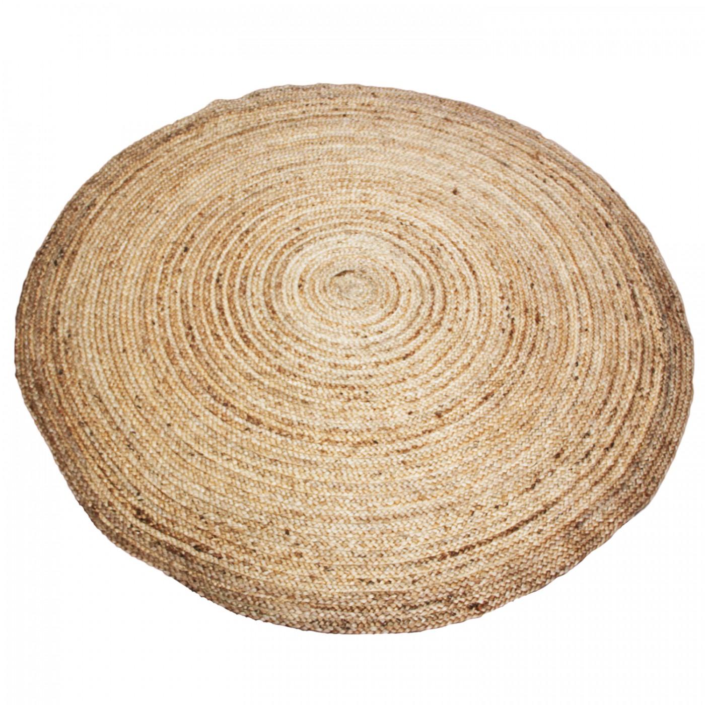Dywan z juty jutowy okrągły duży