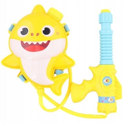 Pistolet wodny baby shark żółty z pojemnikiem