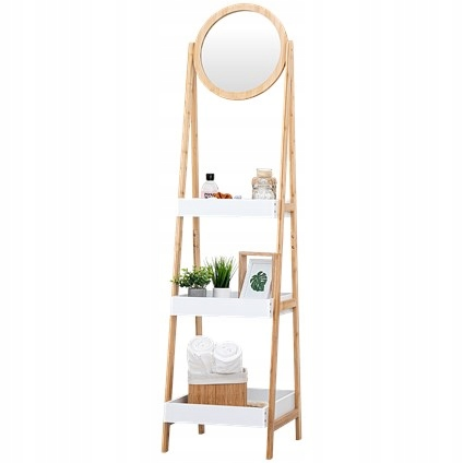 Drabinka bambusowa z lustrem