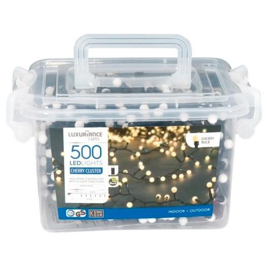 Lampki choinkowe białe - 500 LED
