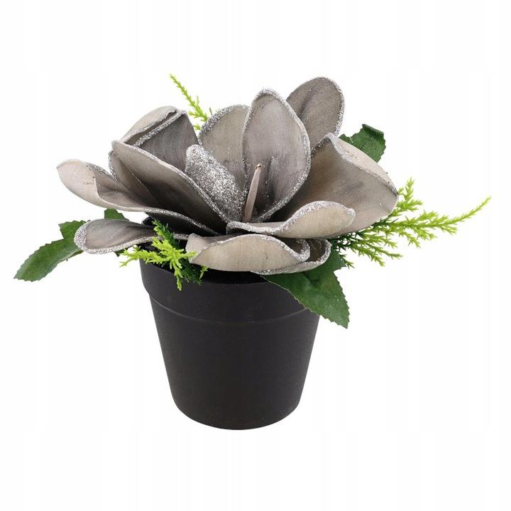 Kwiat piankowy - Stroik - Popielaty