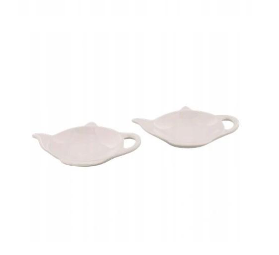 Podstawka pod herbatę - Biała - 2 sztuki