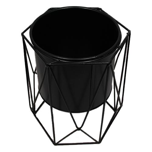 Doniczka druciana czarna - Okrąg - Loft