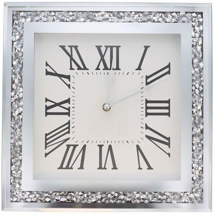 Zegar ścienny szklany glamour