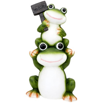 Figurka ogrodowa żaby XL