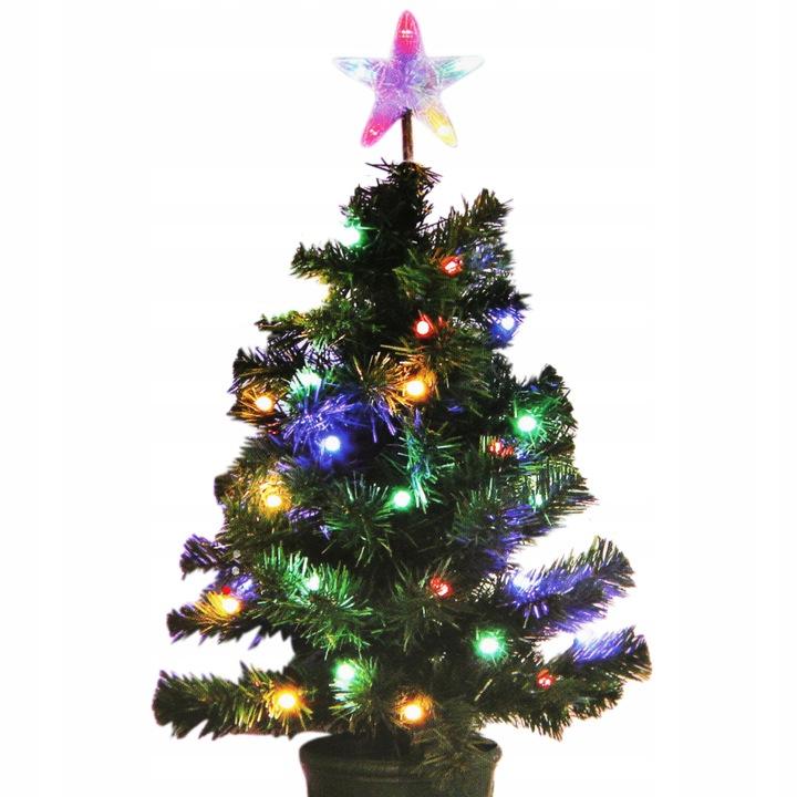 Choinka z kolorowymi lampkami 60cm