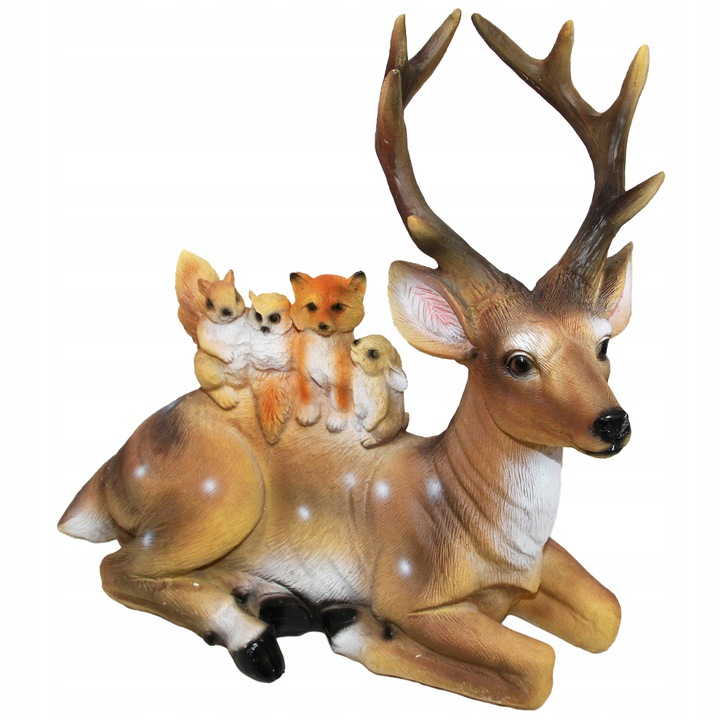 Figurka jelonek ze zwierzątkami XL