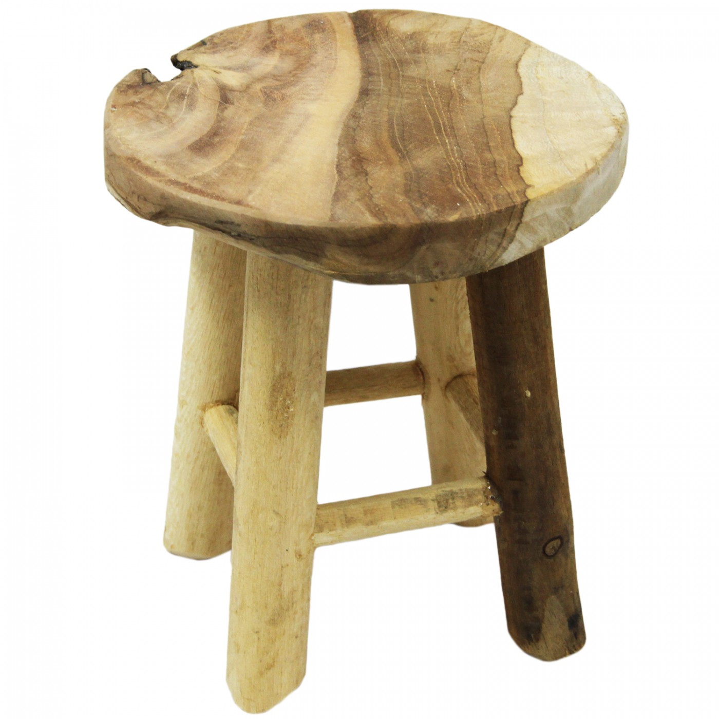 Taboret stolik drewniany mini podstawka pod doniczkę