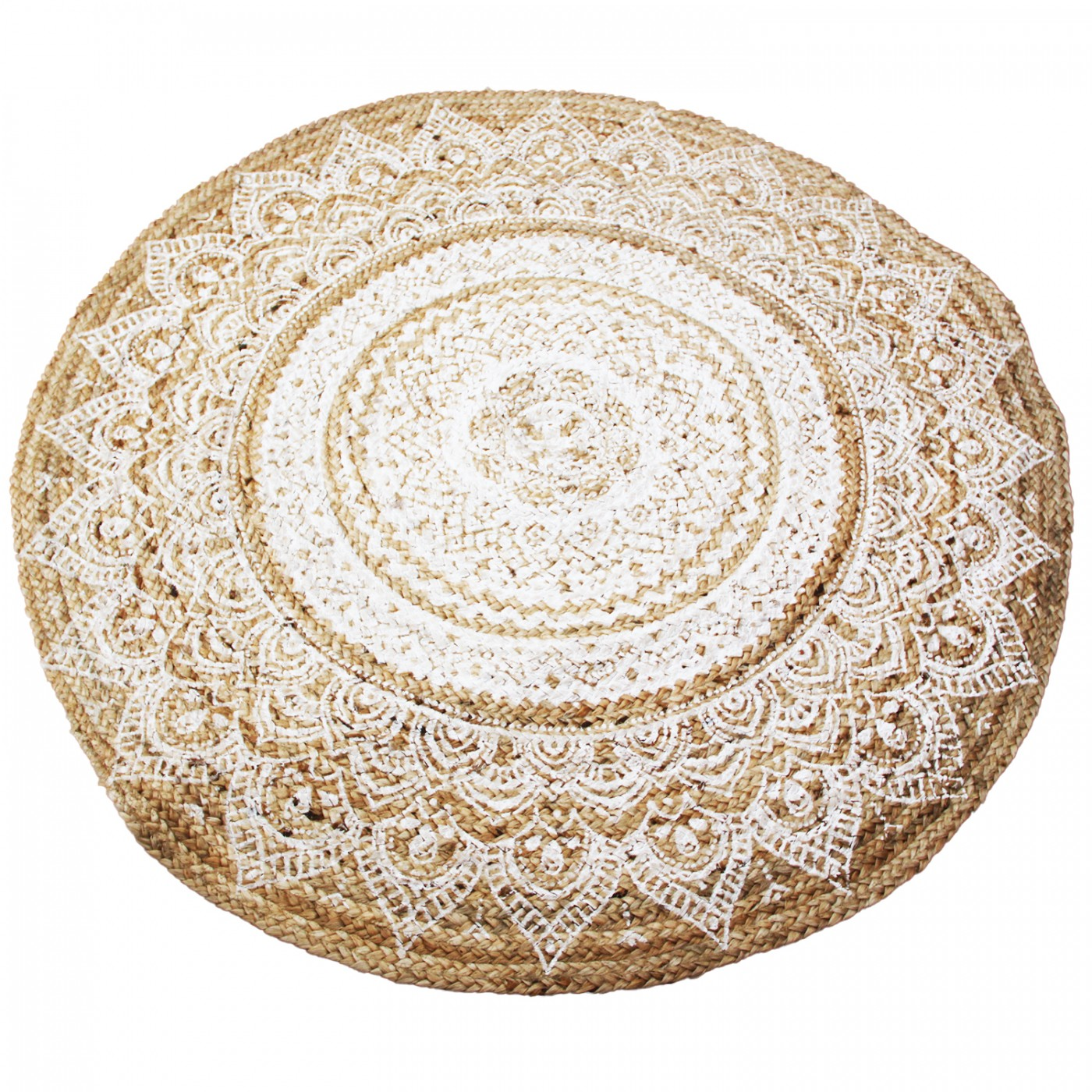 Dywan z juty jutowy okrągły dwustronny wzór