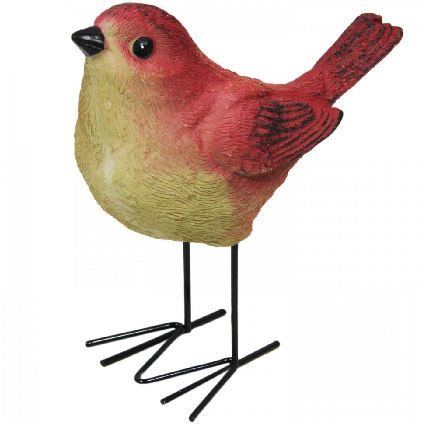 Figurka dekoracyjna ptak ptaszek jesienna mała do domu i ogrodu