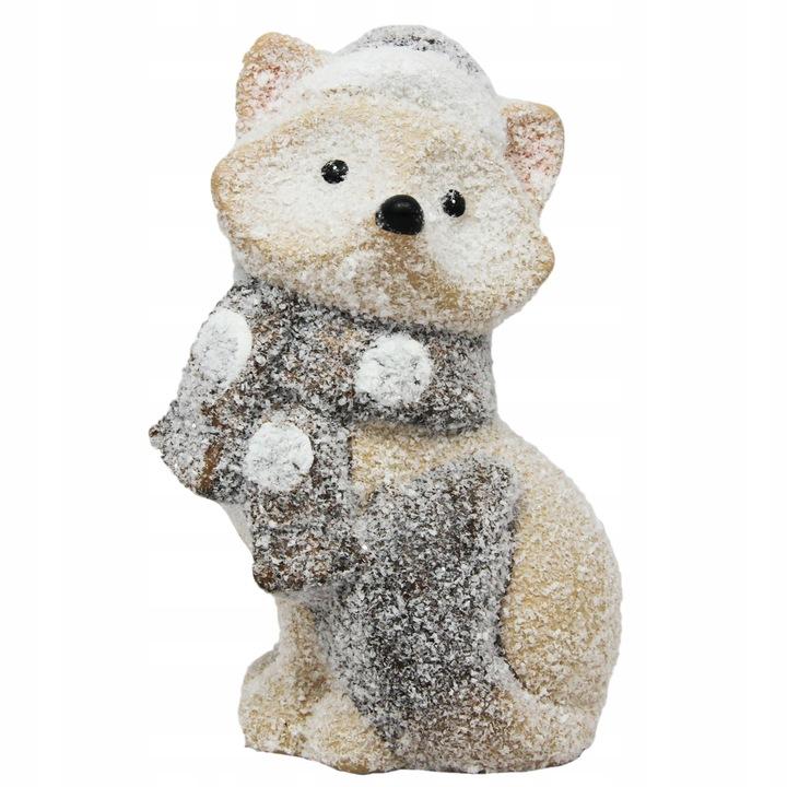 Figurka świąteczna Lisek ozdobna mała
