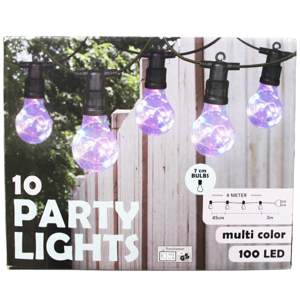 Girlanda kolorowa 100 LED - 10 żarówek
