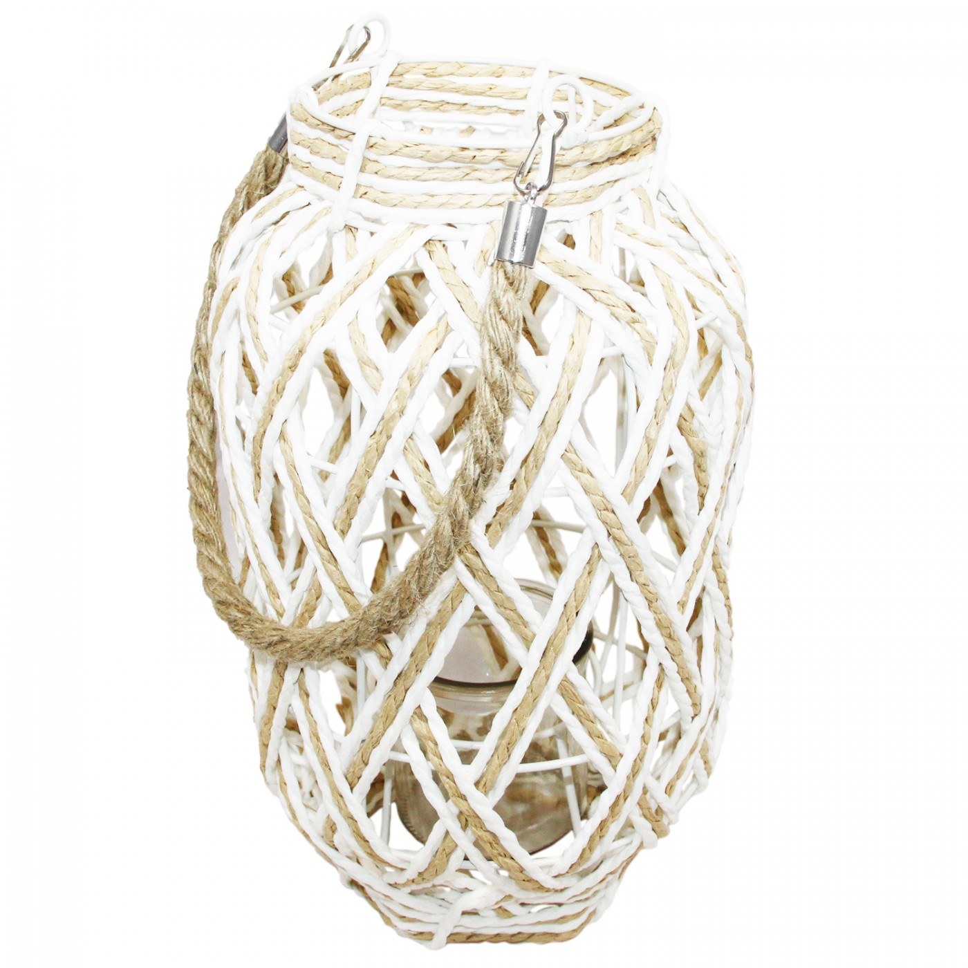 Lampion latarenka pleciona boho - uchwyt