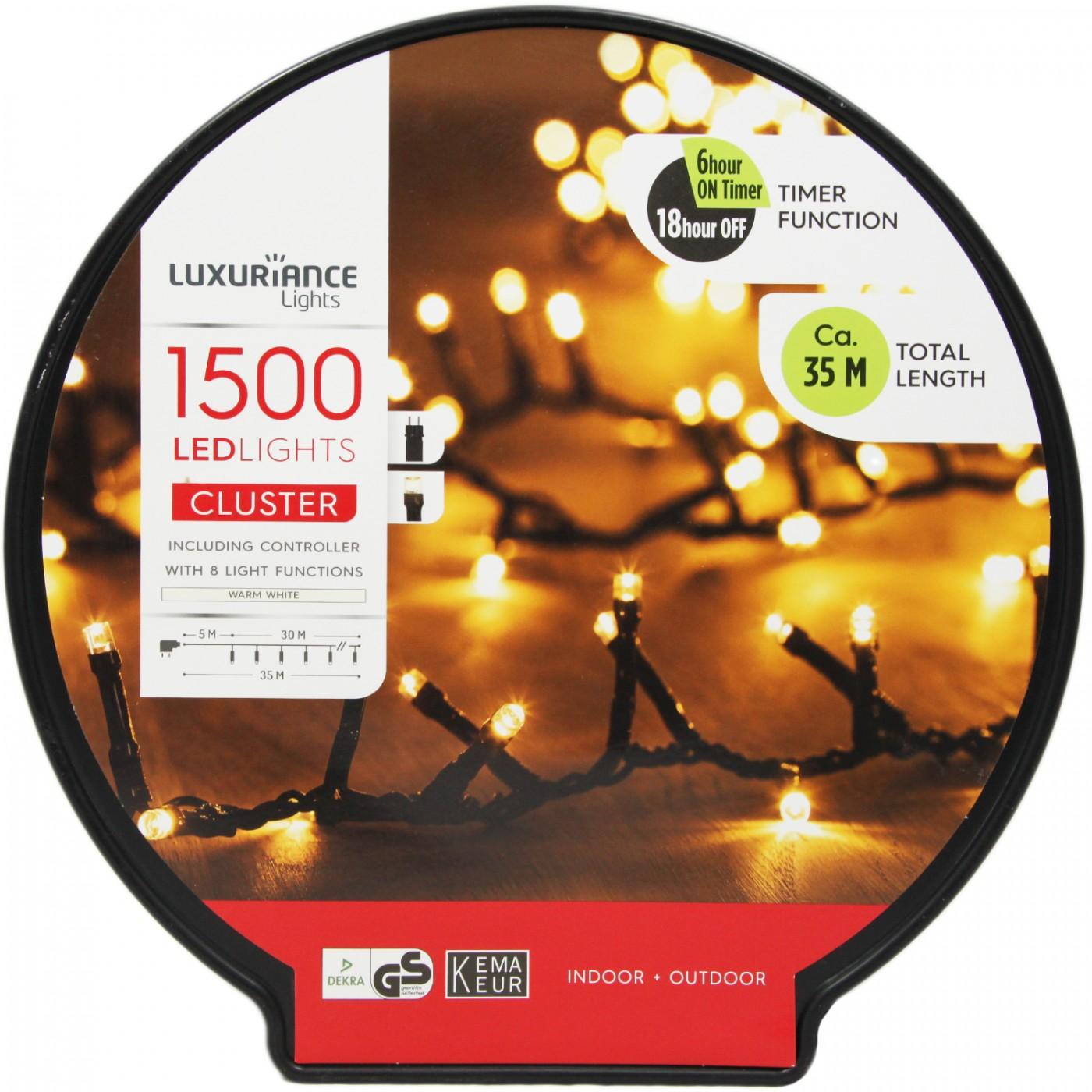 Lampki światełka choinkowe świąteczne białe - 35 m - 1500 LED