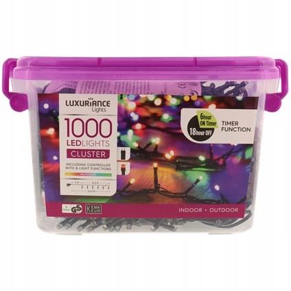 Lampki choinkowe kolorowe - 1000 LED