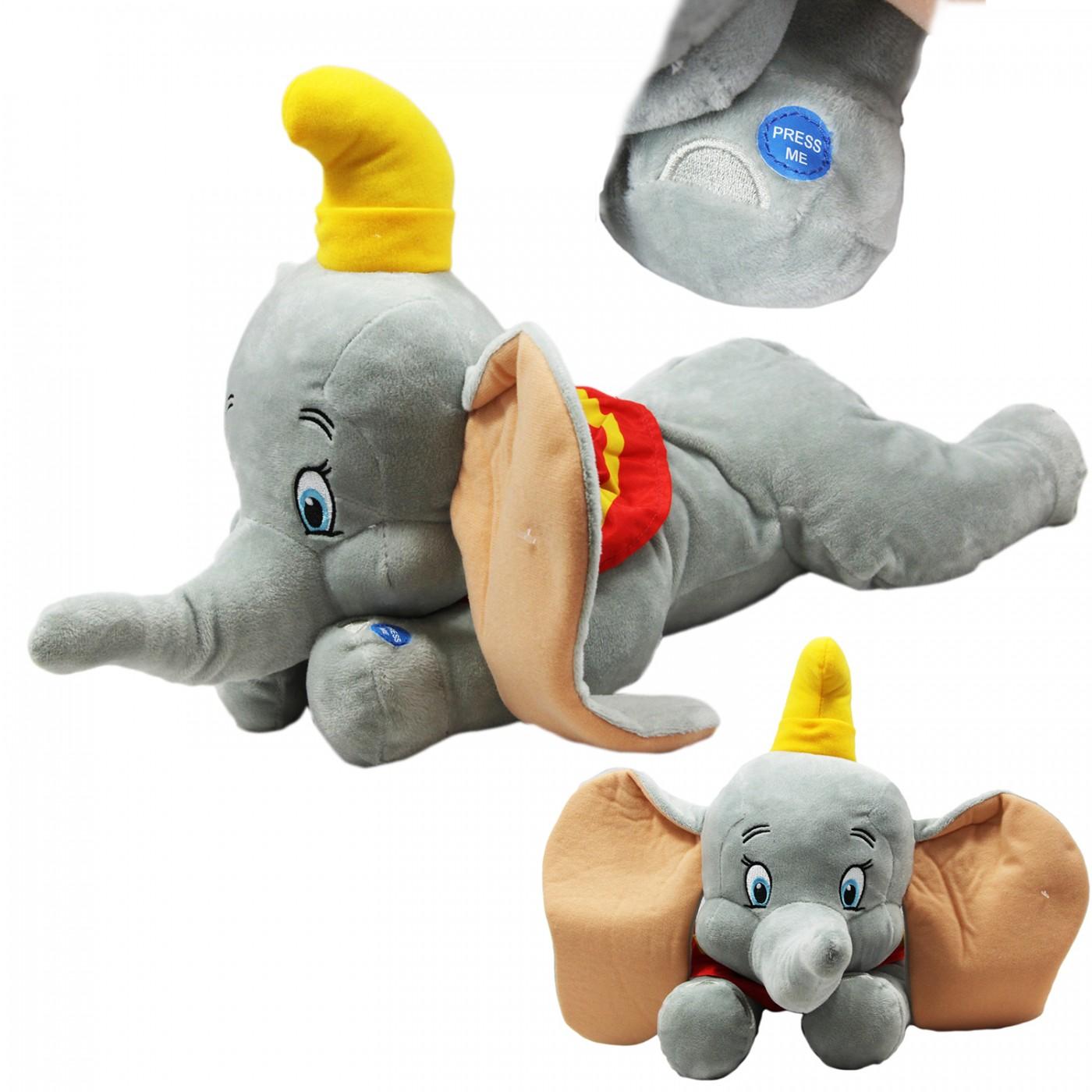 Maskotka grająca interaktywna z dźwiękiem - Słoń Dumbo - 50 cm