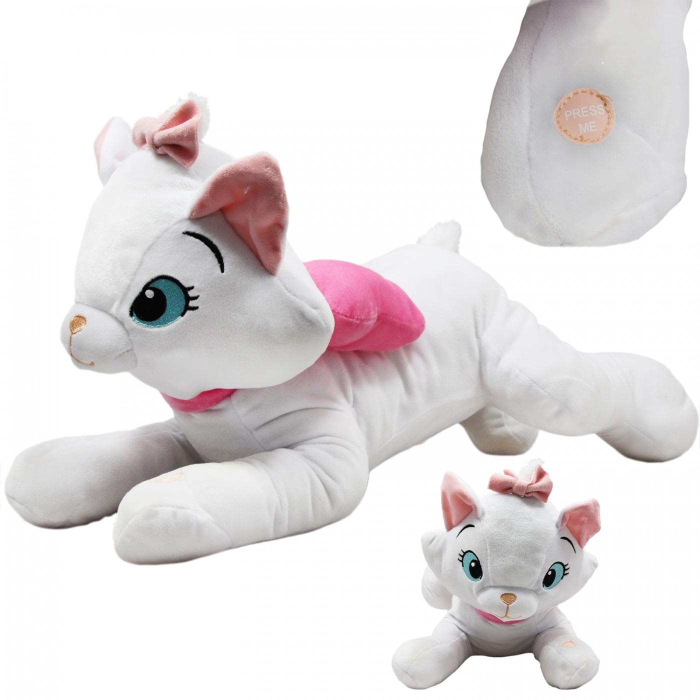 Maskotka grająca interaktywna z dźwiękiem - Kotek Marie - 50 cm