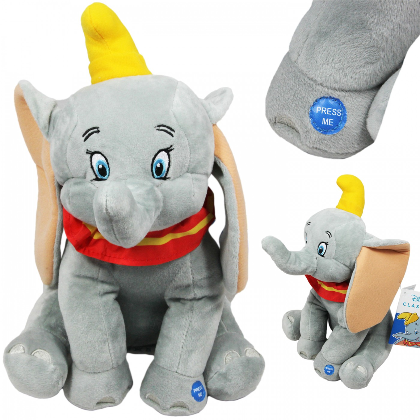 Maskotka grająca interaktywna z dźwiękiem - Słoń Dumbo - 30 cm