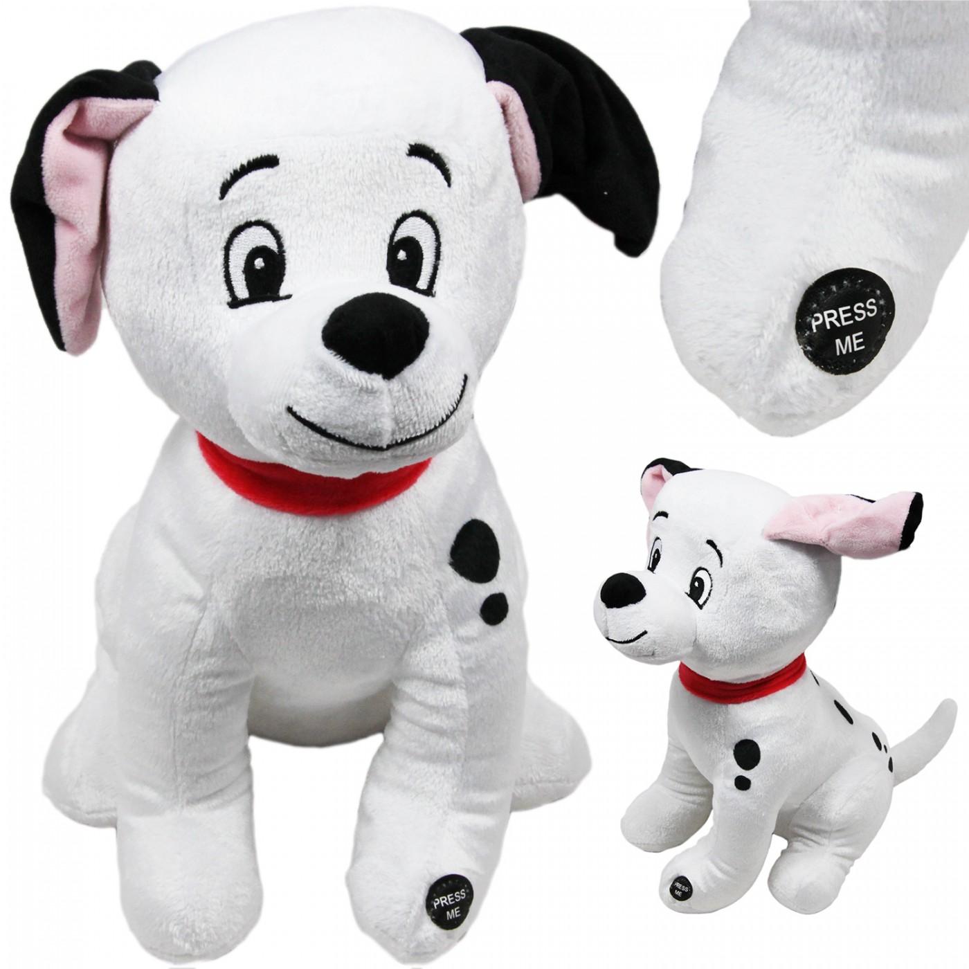 Maskotka grająca interaktywna z dźwiękiem - pies - dalmatyńczyk - 30 cm