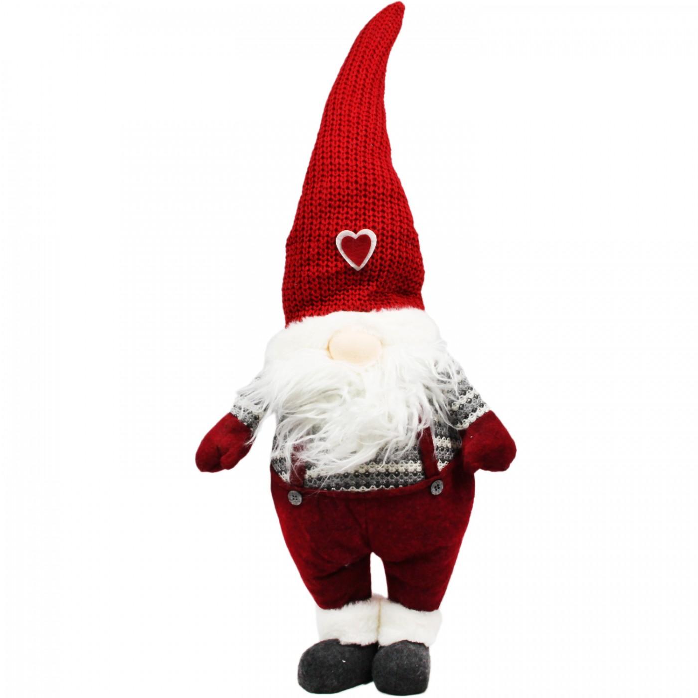 Figurka pluszowa Mikołaj z czapką duża 70 cm