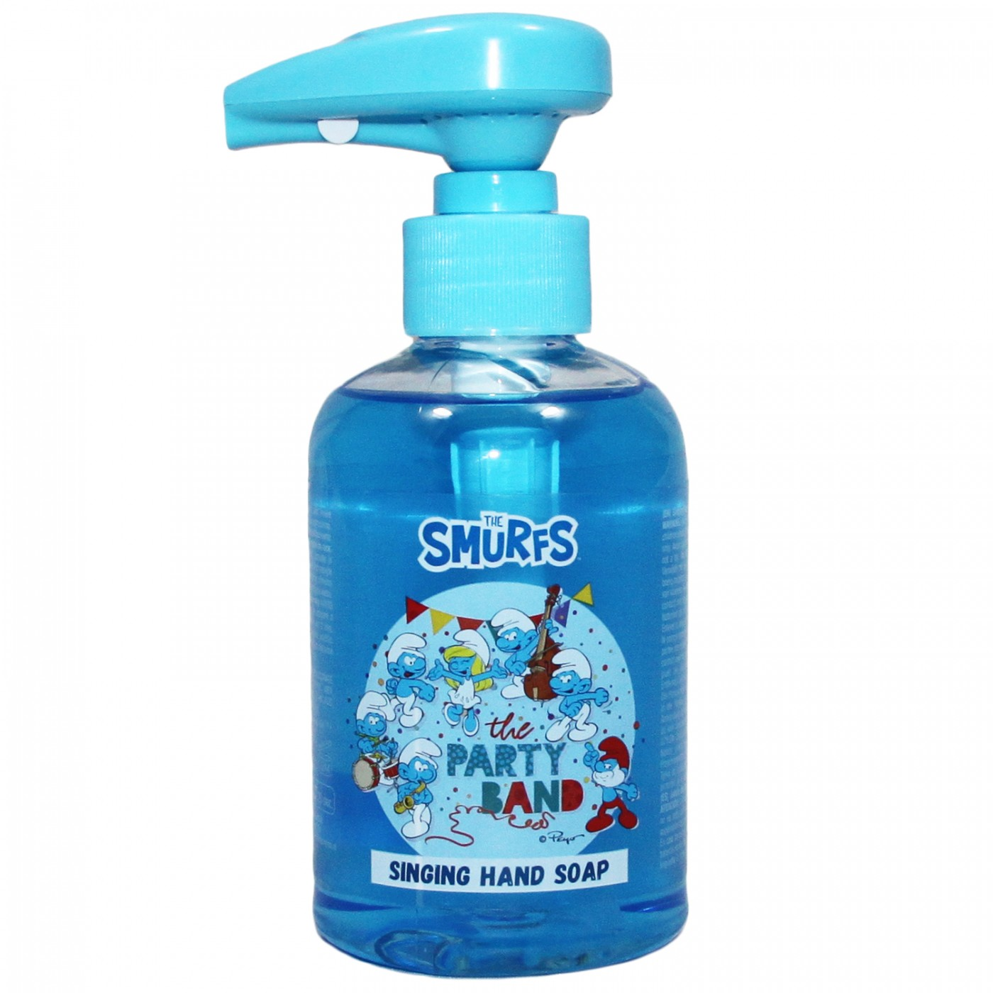 Mydło z dźwiękiem grające - Smerfy - niebieskie