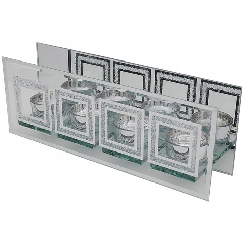 Świecznik lustrzany 4 x tealight