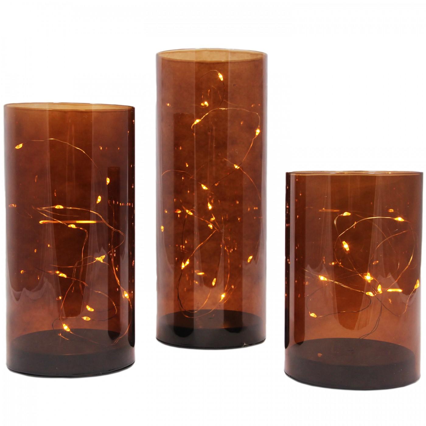 Szklana tuba LED 3 szt