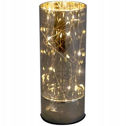 Szklana tuba LED wazon ze światełkami