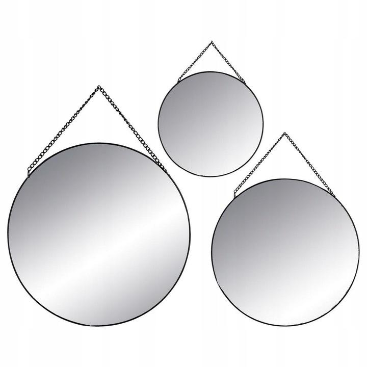 Lustro wiszące 3 szt okrągłe