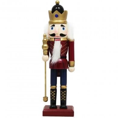Dziadek do orzechów - król 25cm - Figurka drewniana
