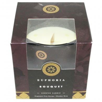 Świeca świeczka zapachowa z drewnianym knotem Euphoria Bouquet