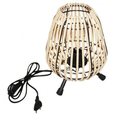 Lampka Boho stołowa z bambusa