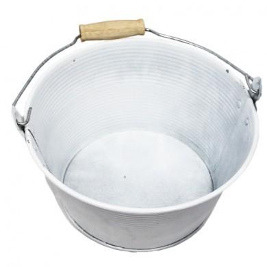 Wiaderko cynkowe - doniczka - 20x11 cm - biała