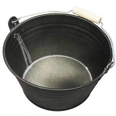 Wiaderko cynkowe - doniczka - 20x11 cm - czarna