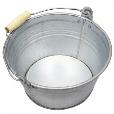 Wiaderko cynkowe - doniczka - 20x11 cm - szara