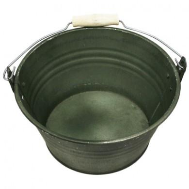 Wiaderko cynkowe - doniczka - 20x11 cm - zielona