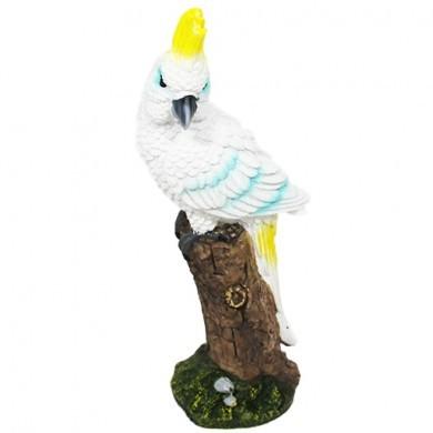 Figurka papuga - Ara - Biała