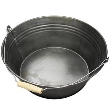 Wiaderko cynkowe - doniczka - 36x15 cm - czarna