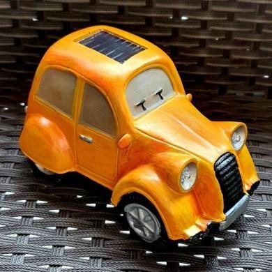 Figurka auto żółte solarna słoneczna 2 LED