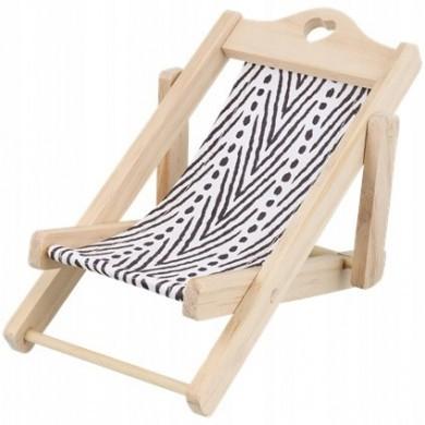 Dekoracyjny leżak plażowy krzesło dla lalek