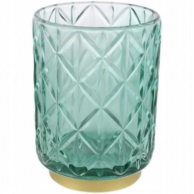 Szklany świecznik - Morski