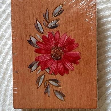 Pieczątka drewniana Kwiatek