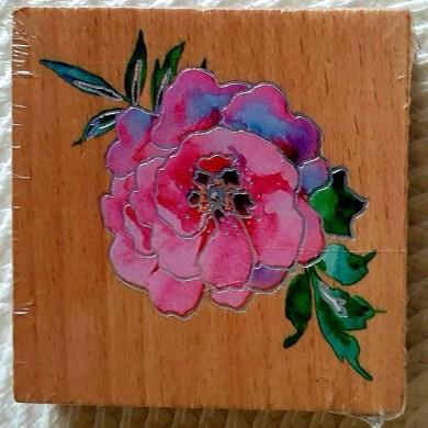 Pieczątka drewniana Róża