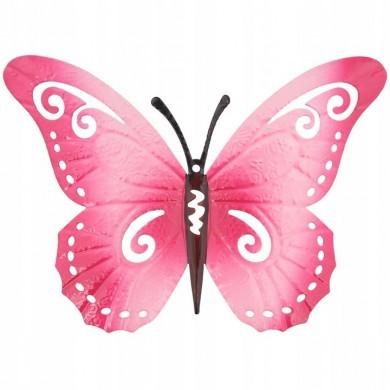 Zawieszka ścienna motyl Różowy