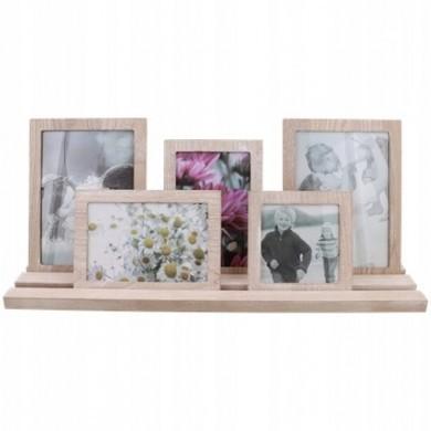 Drewniana ramka na zdjęcia + Półka