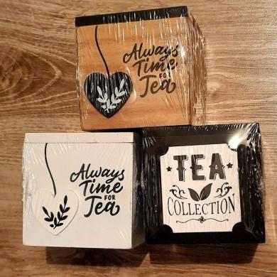 Drewniane pudełko na herbatę